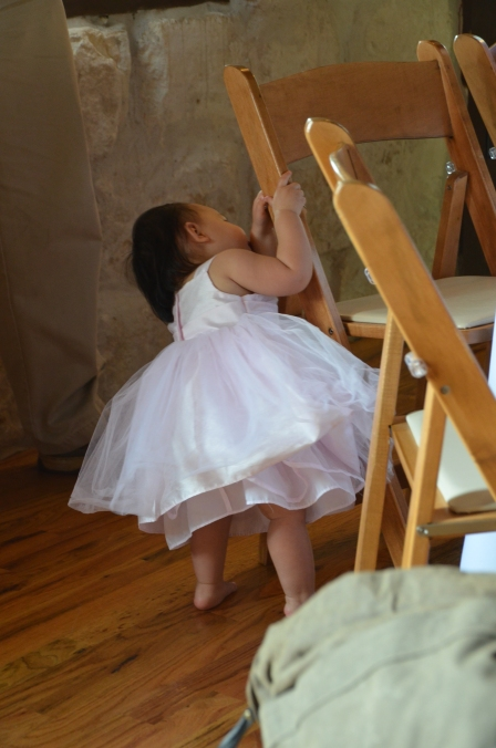 Baby Playing at Wedding